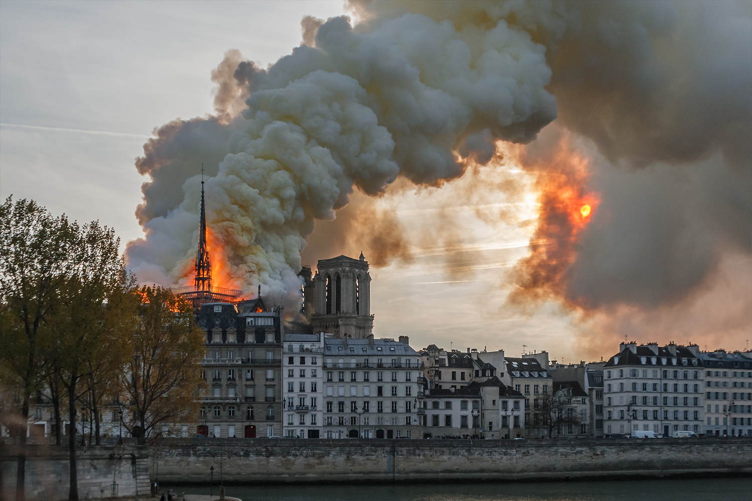 The fire at Notre Dame on April 15