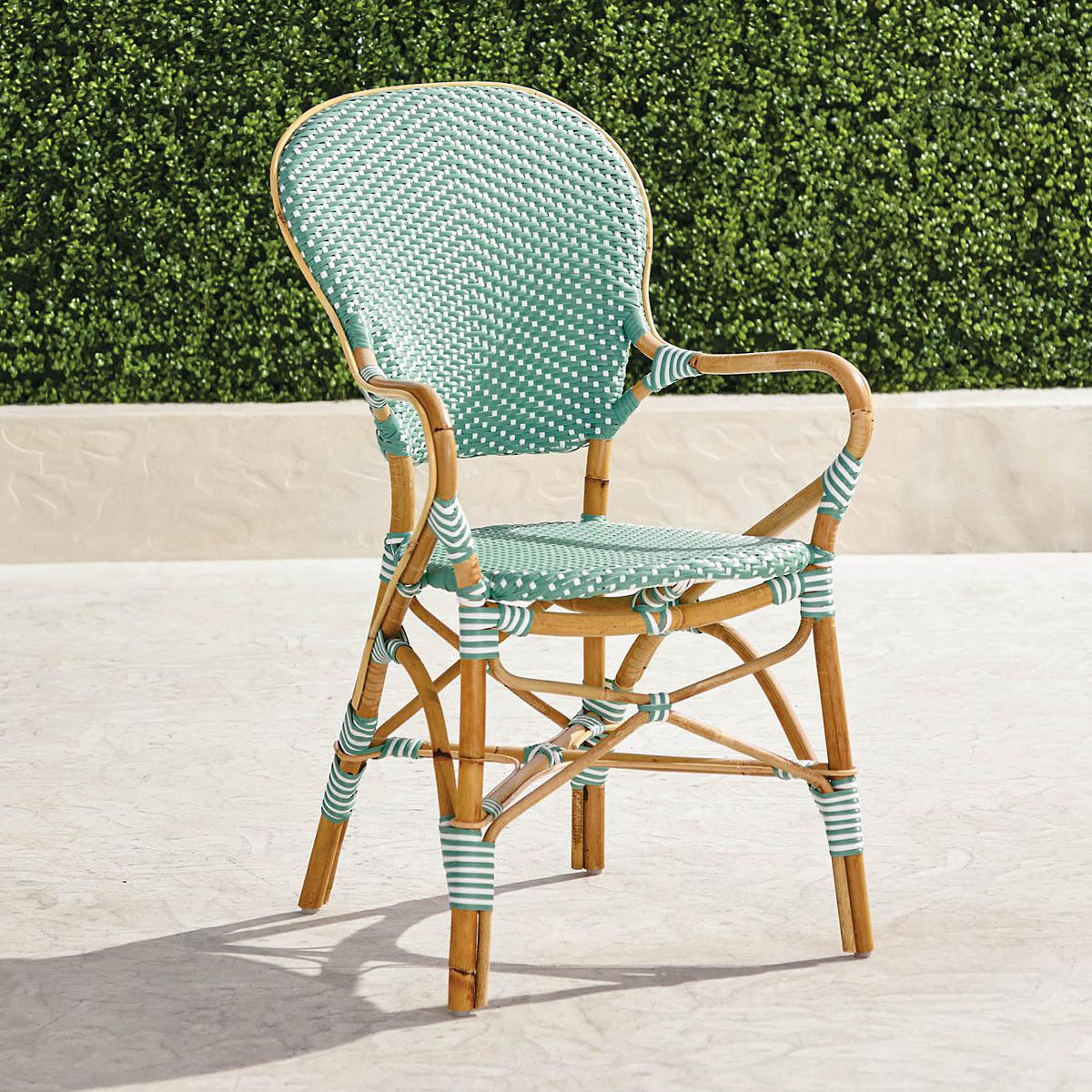 bistro arm chair on patio