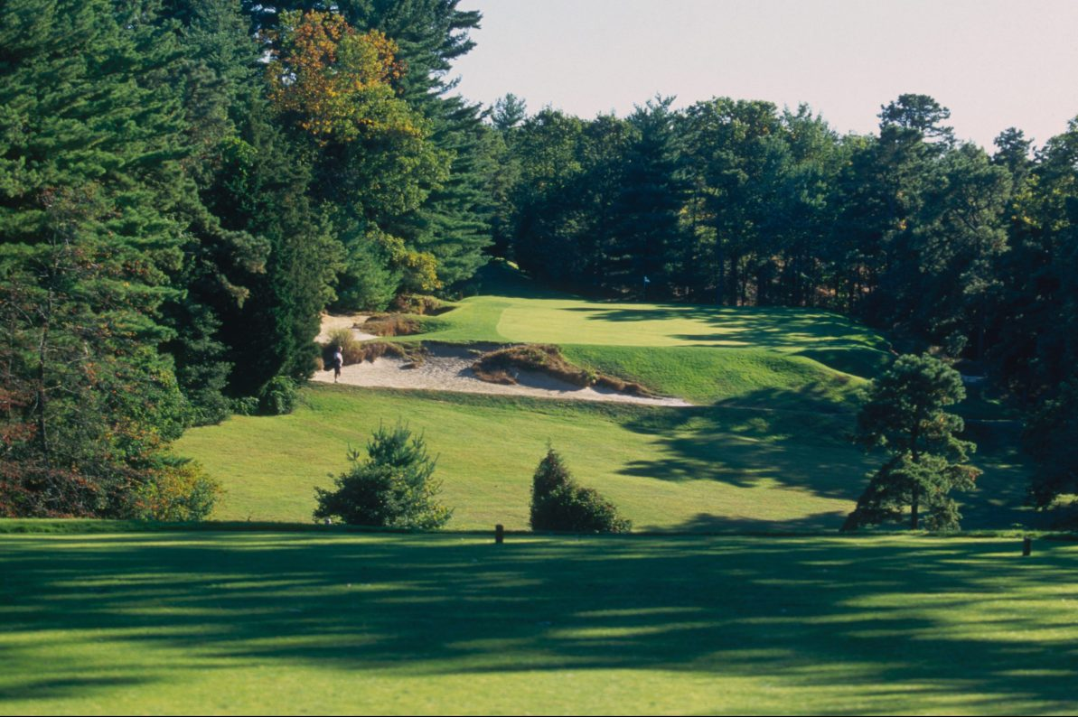 A shot of the course at Pine Valley Golf Club