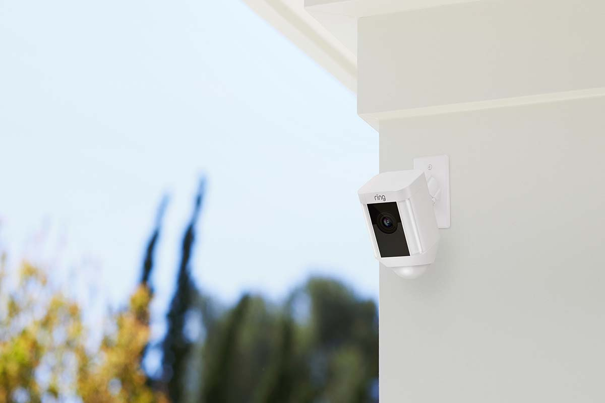 An outdoor camera from Ring, Amazon's home security product