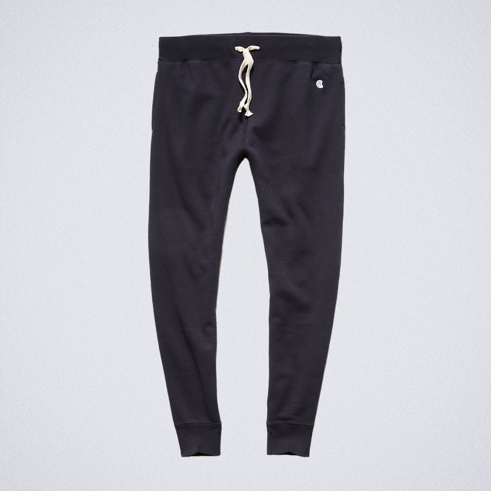 Todd Snyder Midweight Slim Jogger Pant in Original Navy