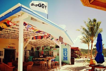 soggy dollar bar on jost van dyke in the british virgin islands