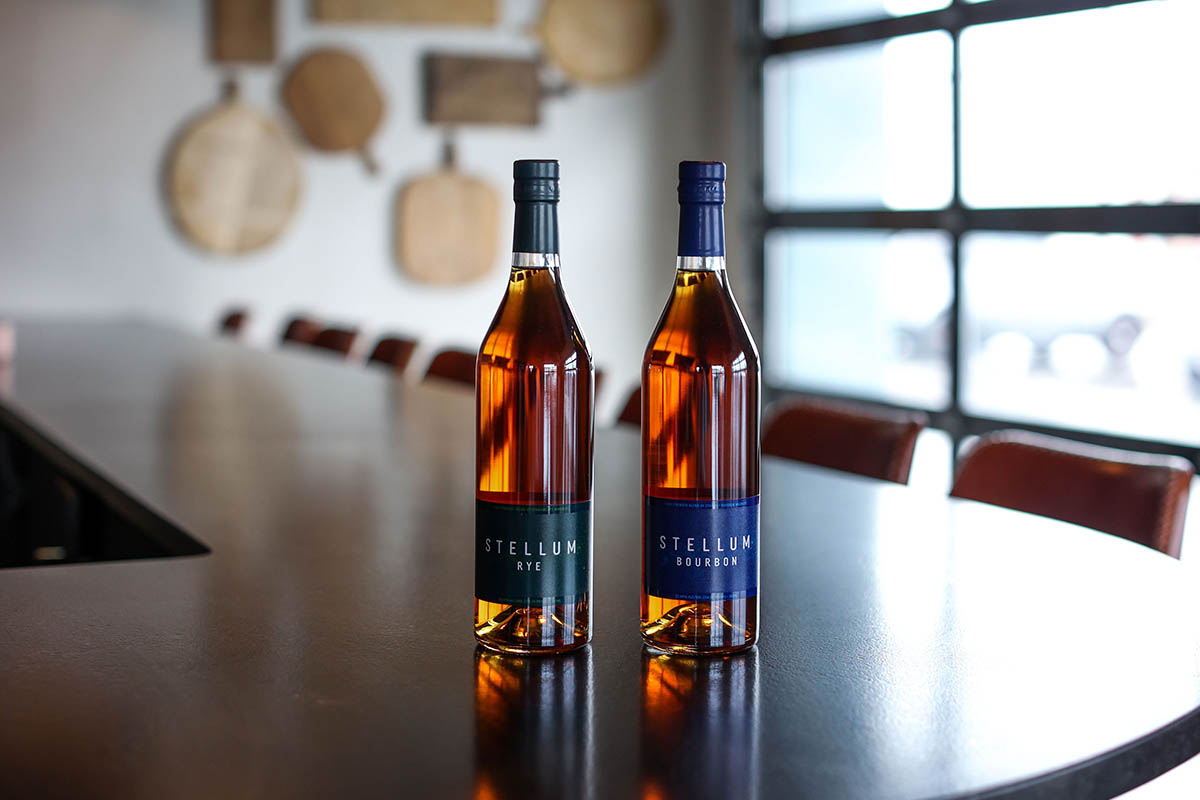 The two new bottles of Stellum, from Barrell Craft Spirits