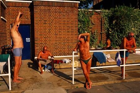 old men with sunburns