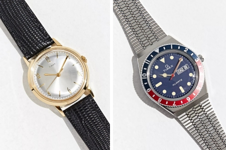 Timex Marlin and Timex Q Stainless Steel Watch