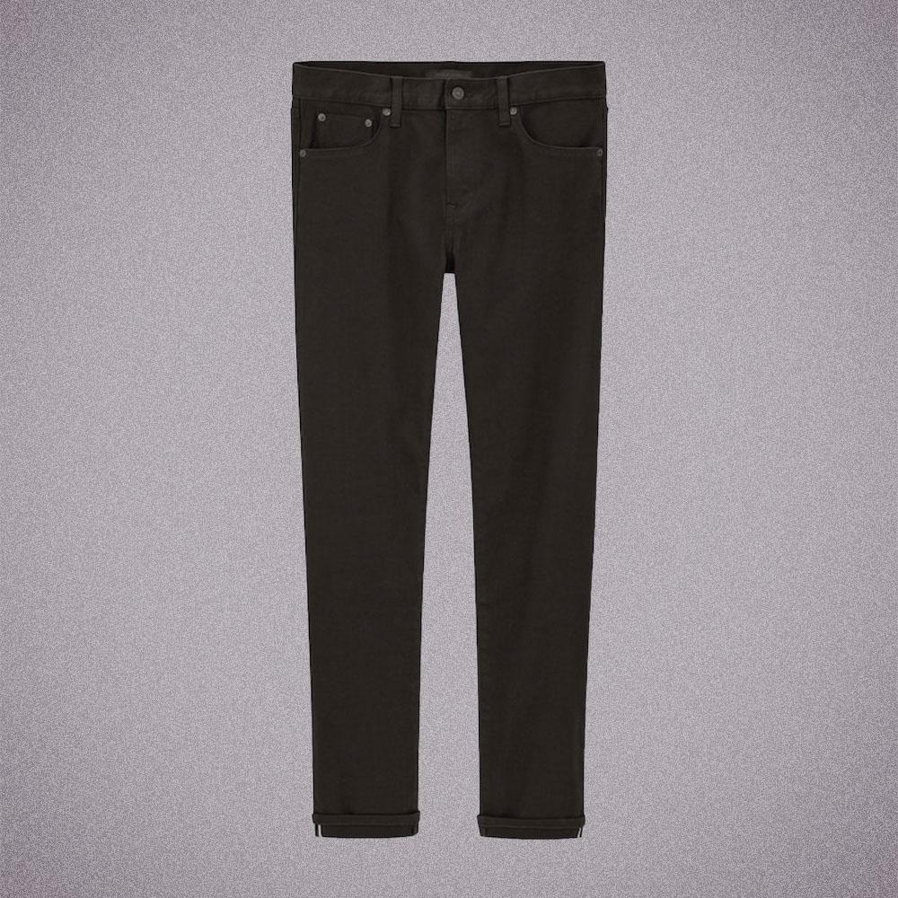 Uniqlo Selvedge Stretch Slim-Fit Jeans in Black