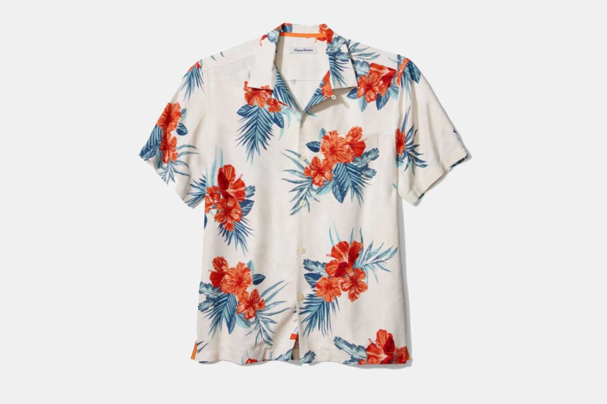 Deal: Save Over $40 on Tommy Bahama's Vacation-Ready Floral Silk Button-Up