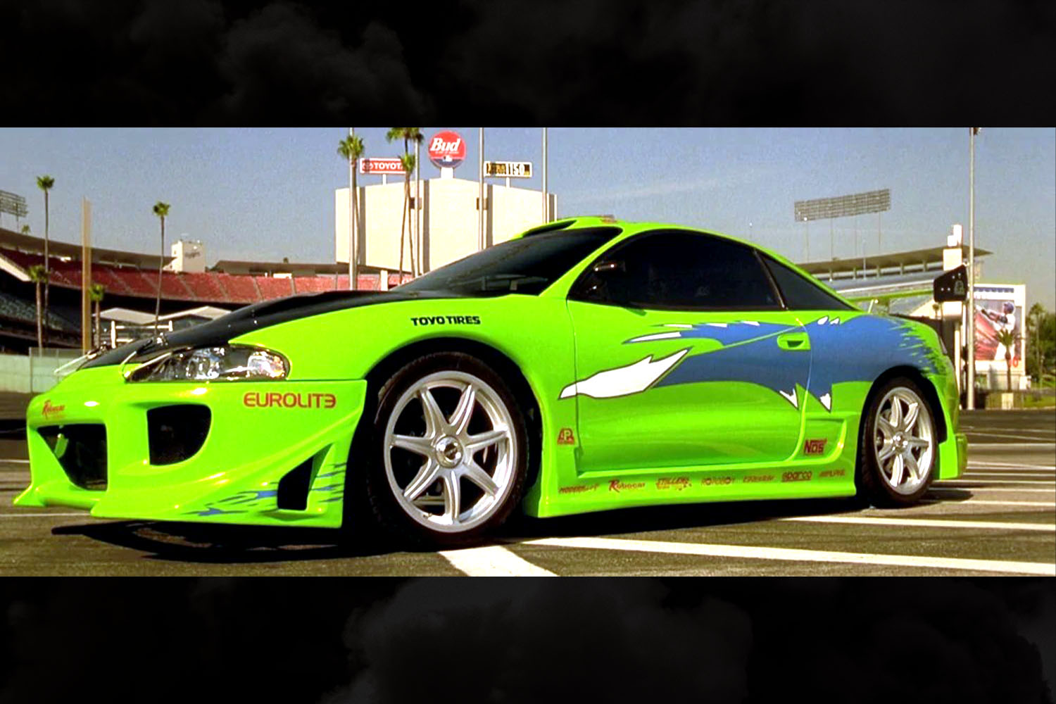 The green 1995 Mitsubishi Eclipse driven by Brian O'Conner (Paul Walker) in The Fast and the Furious, one of the most recognizable cars from the franchise