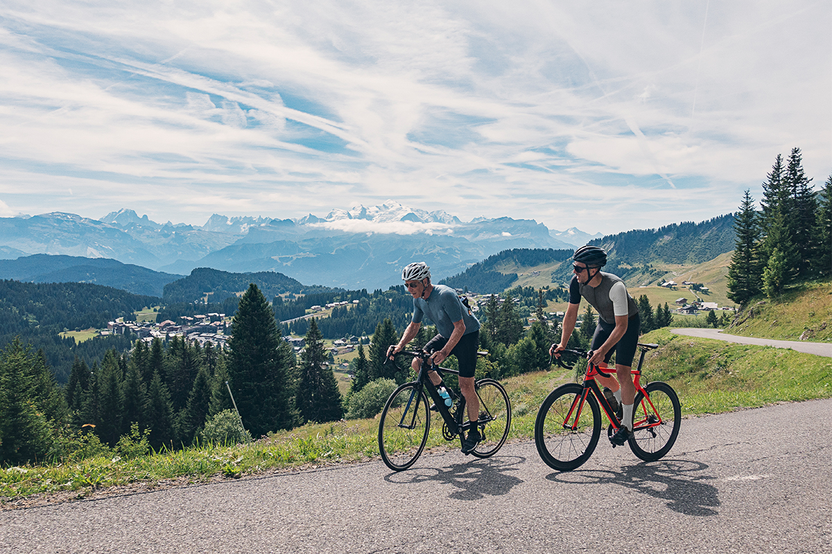 father son cycling