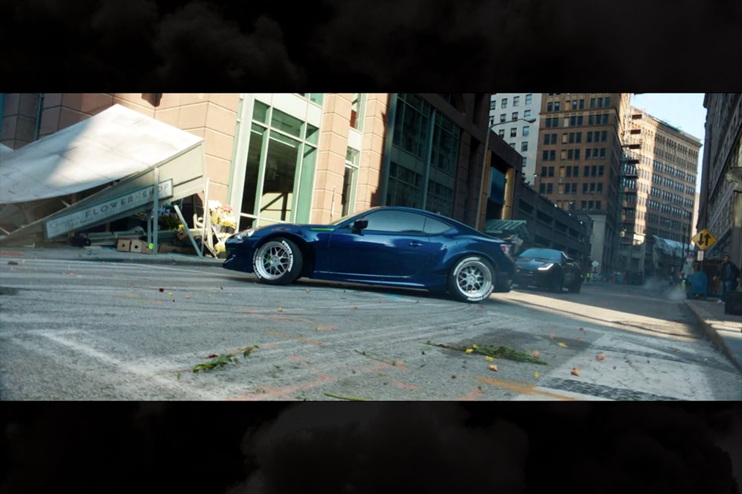 A blue 2017 Subaru BRZ driven by Little Nobody (Scott Eastwood) in The Fate of the Furious. Not an especially memorable car.
