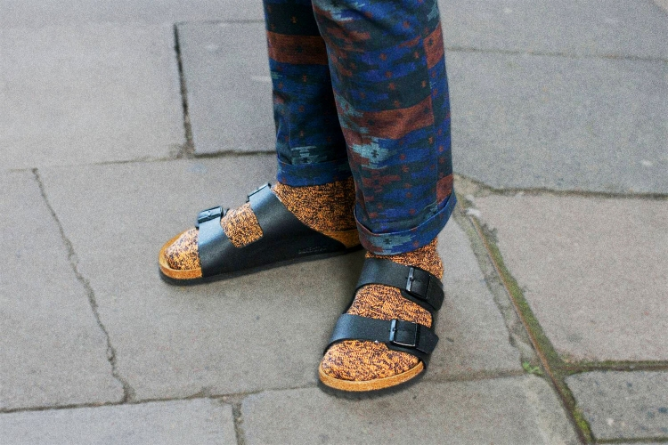 Birkenstocks worn with socks
