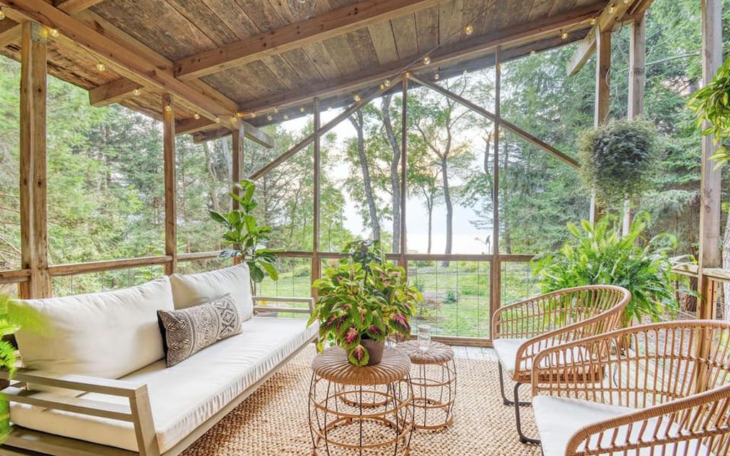 Bohemian Bungalow Airbnb on Lake Michigan