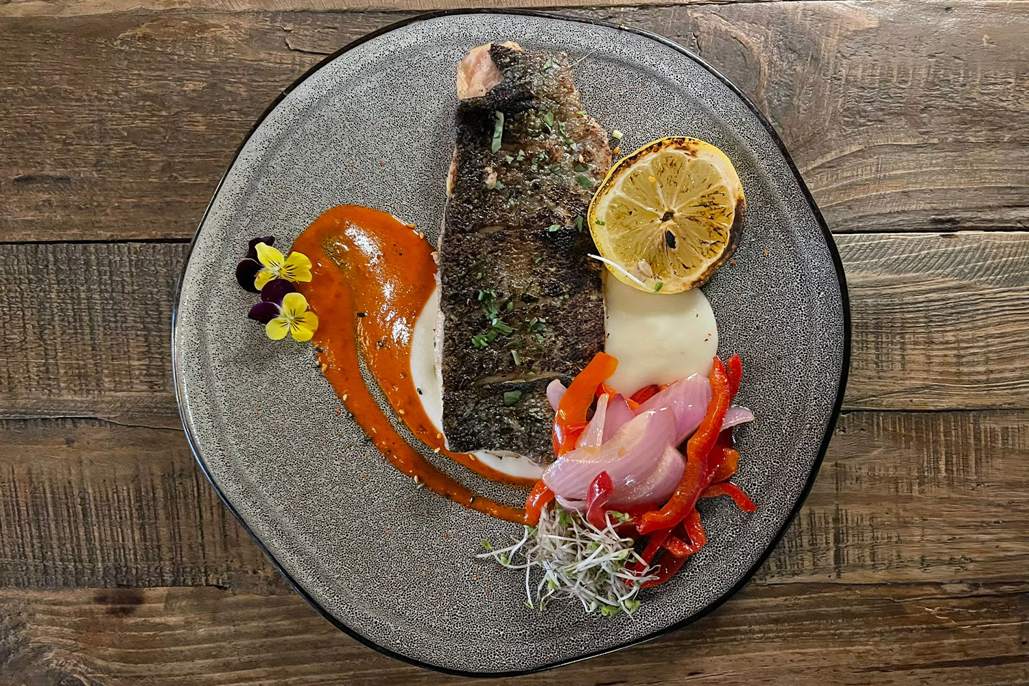 Colombian Grilled Trout Fillet in Beer Butter