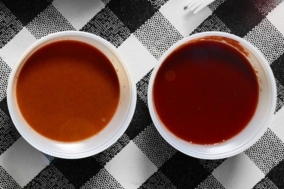 Two types of BBQ sauce