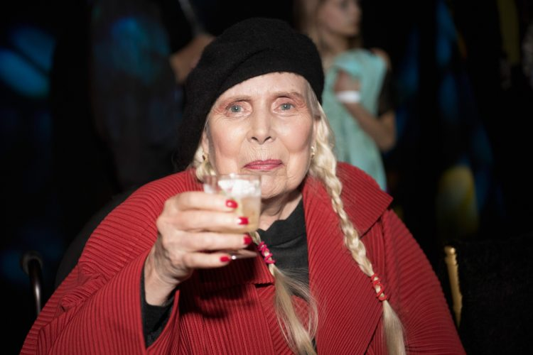 Joni Mitchell at Los Angeles Fashion Week on March 21, 2019 in Los Angeles, California.