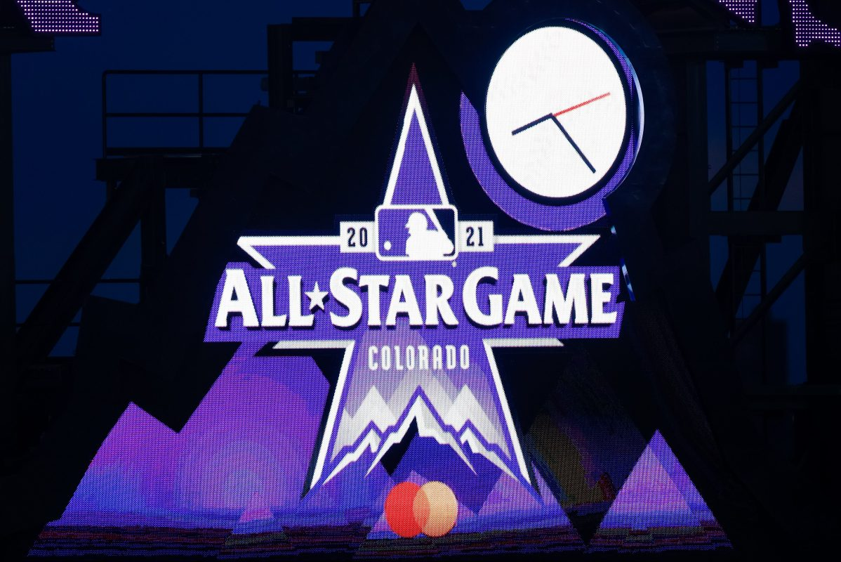 The MLB All-Star Game logo for the 2021 game being held in Colorado at Coors Field, the home of the Rockies