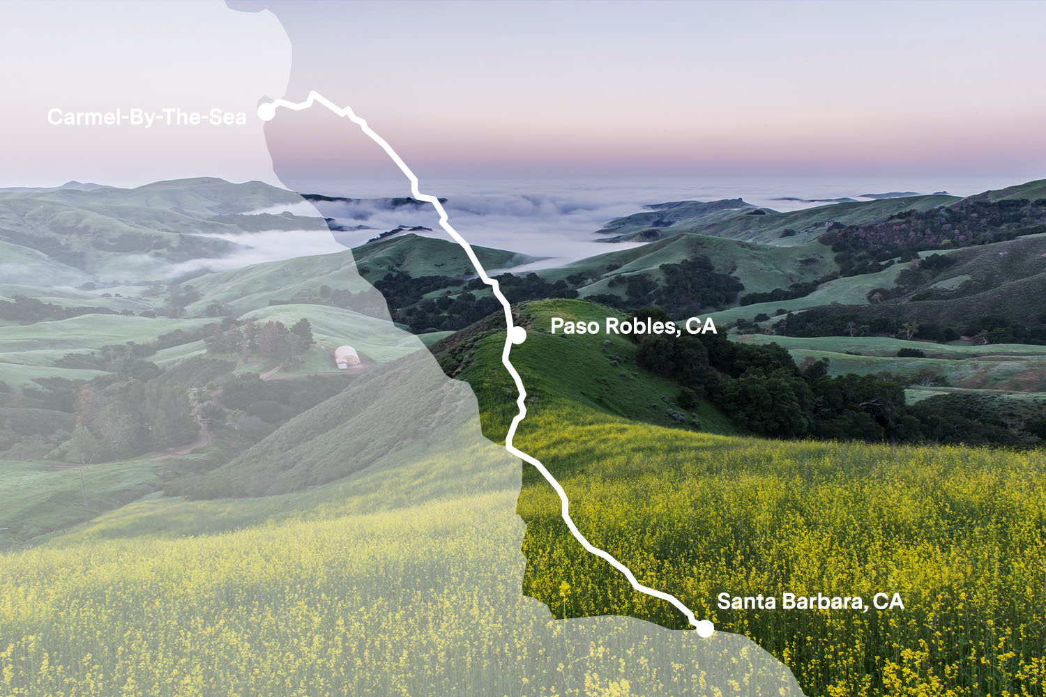 The Best Scenic Drive in Central California is US 101 in CA from Paso Robles to Carmel