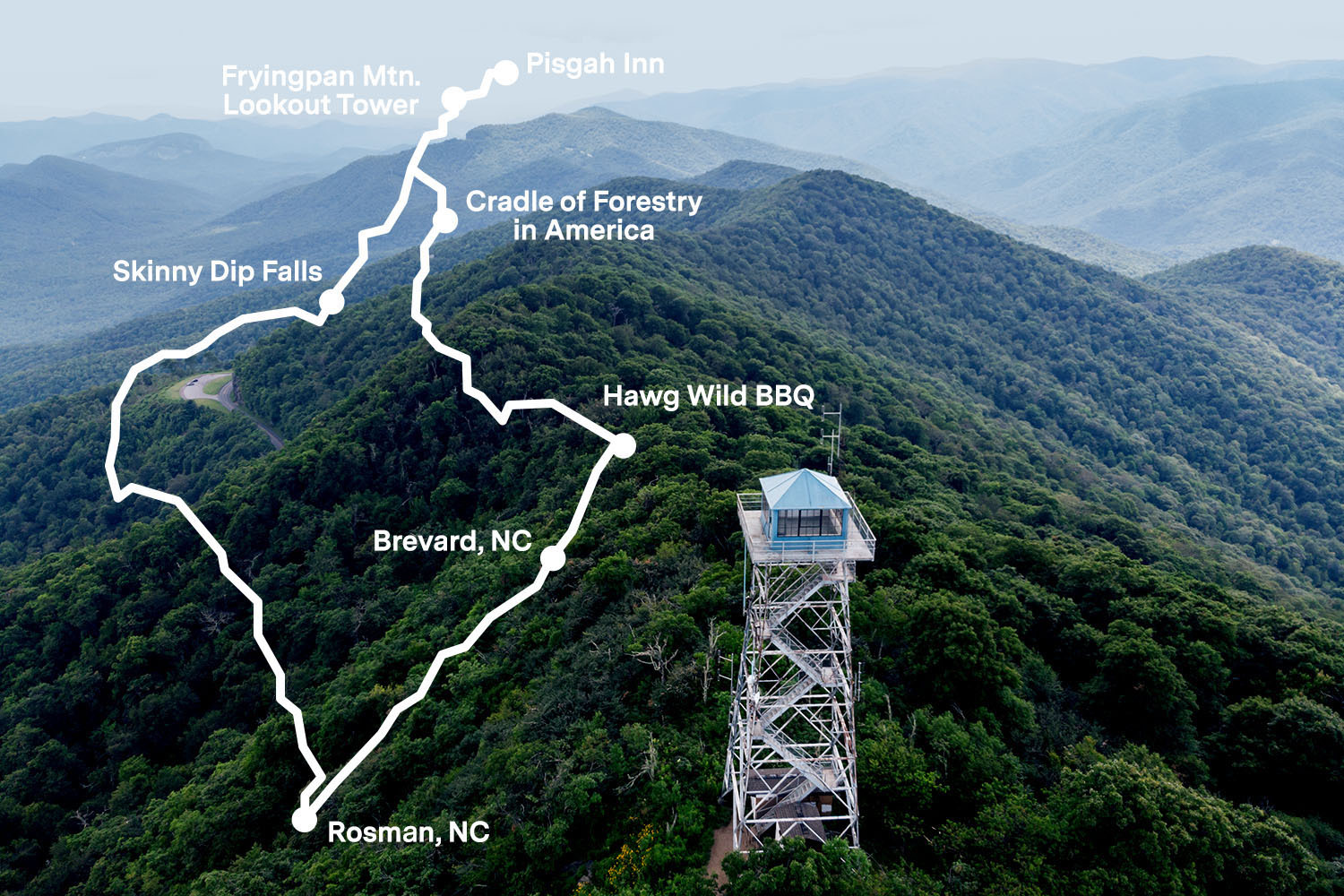 The Best Scenic Drive in North Carolina is US 276 to the Blue Ridge Parkway to NC 215, aka The Blue Ridge Loop