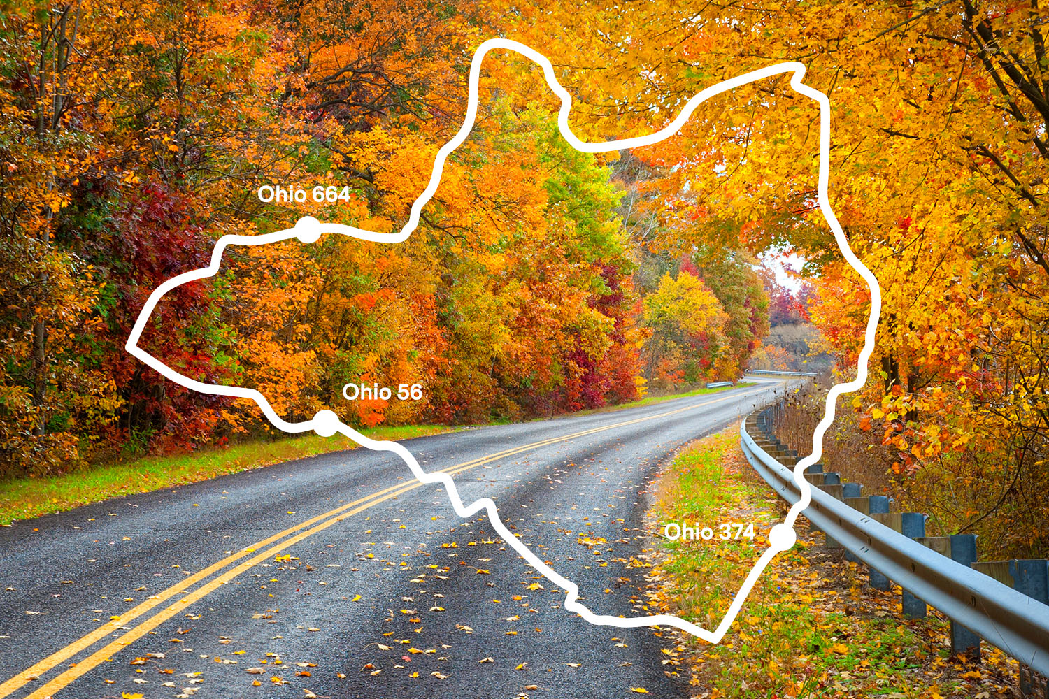 The Best Scenic Drive in the Ohio Valley is OH 664 to 56 to 375, The Hocking Hills Loop