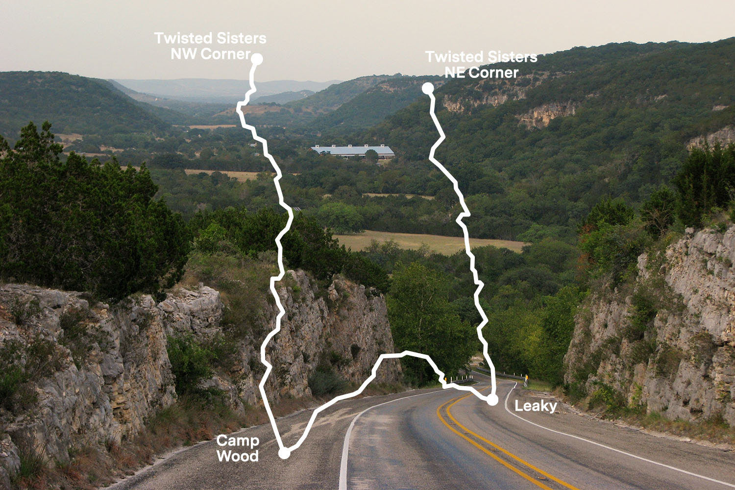 The Best Scenic Drive in Texas are the Three Twisted Sisters, or Hill Country Ranch Roads 335, 336 and 337
