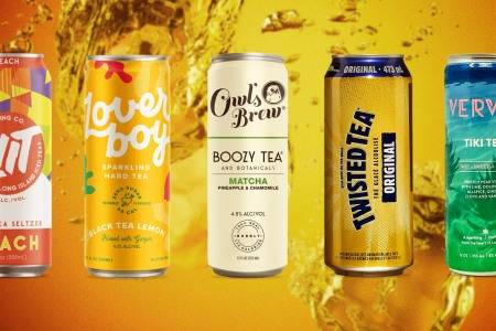 Five cans of boozy hard teas, a growing segment of the RTD market