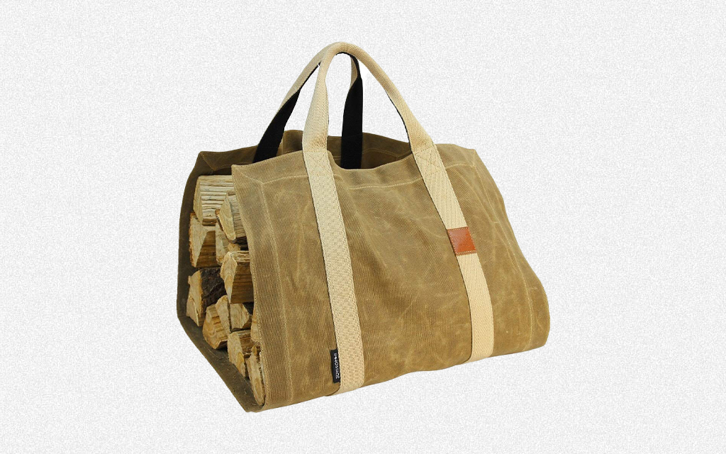 INNO STAGE Waxed Canvas Firewood Log Carrier