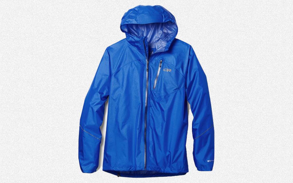 Outdoor Research Helium Rain Jacket hiking essentials