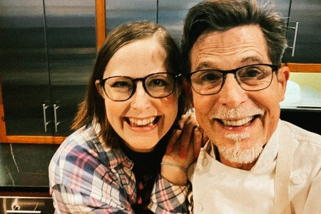 Rick and Lanie Bayless, cooking together for Father's Day