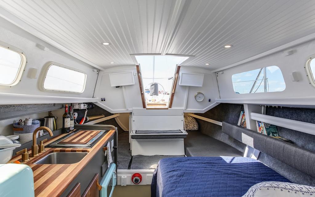 Sailboat Stay Airbnb Lake Michigan