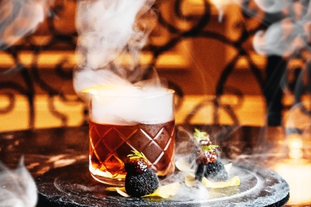 A smoked cocktail at the Petrossian Bar in Las Vegas