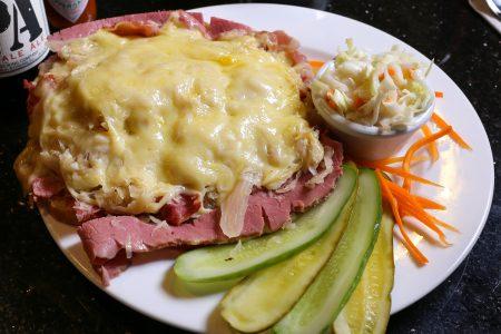 How to make PJ Bernstein's open-faced Reuben sandwich.