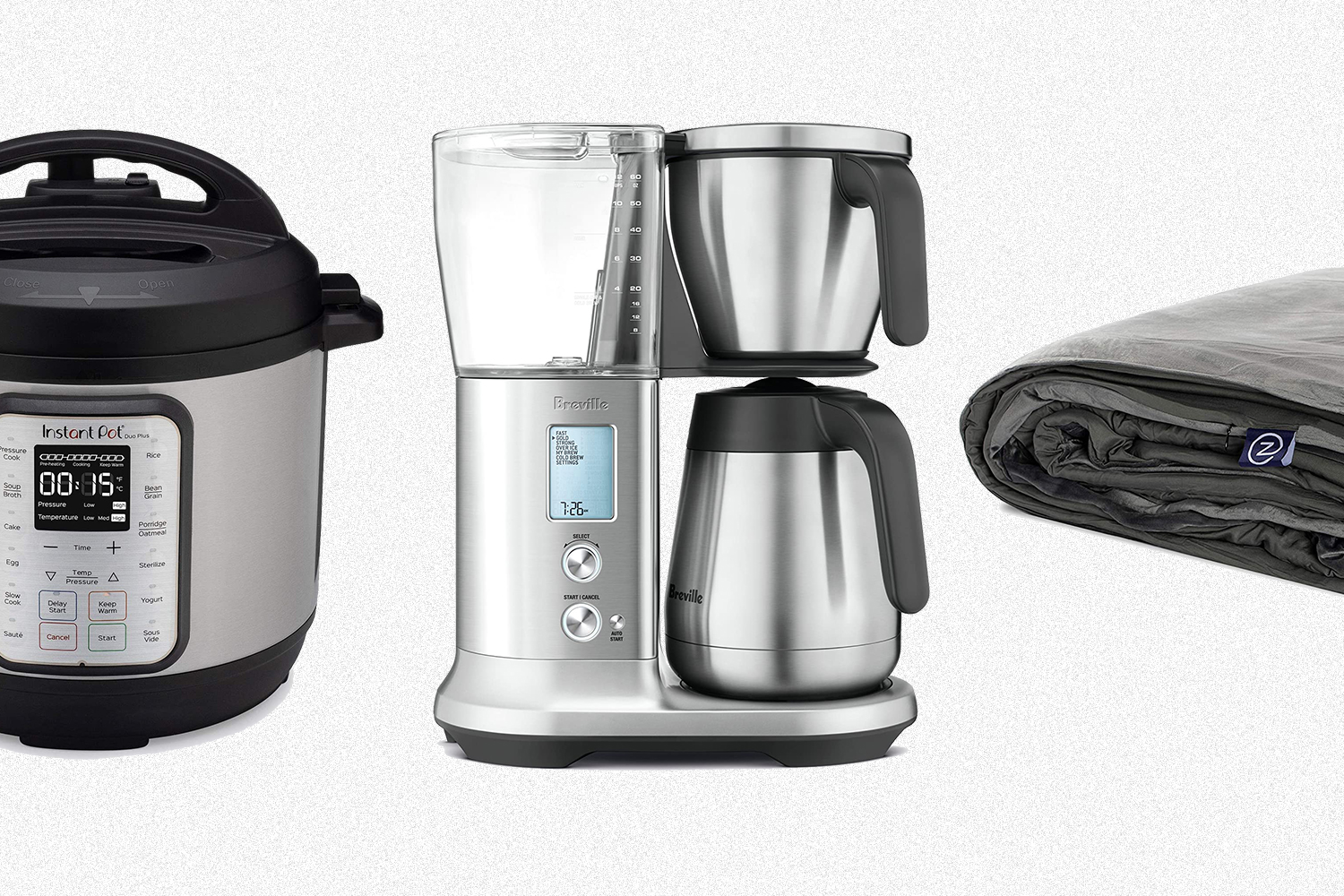 An Instant Pot, Breville coffee brewer and Gravity weighted blanket all on sale for Amazon Prime Day