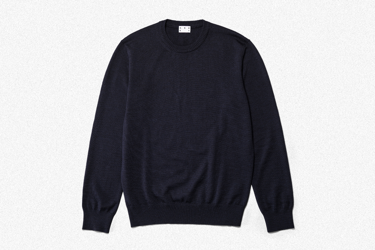 The Merino Sweater in navy blue from Swedish brand Asket