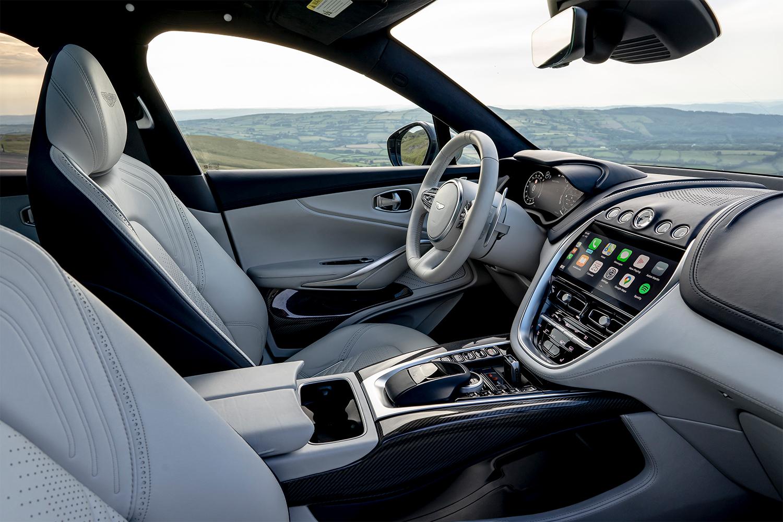 Interior of the 2021 Aston Martin DBX SUV
