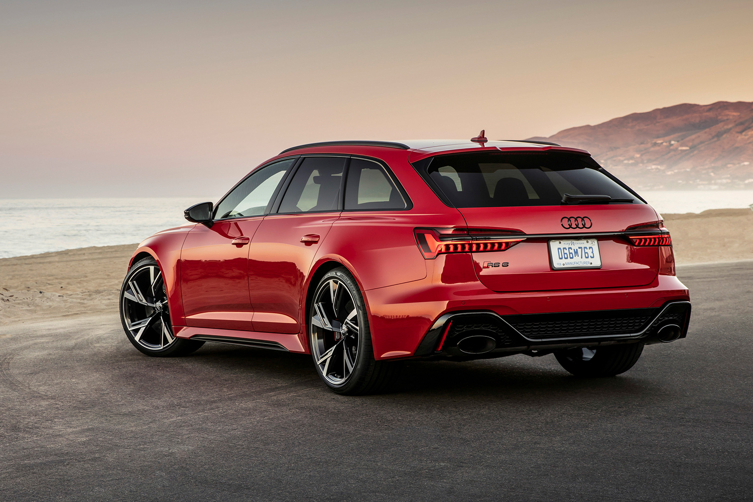 The rear end of a red Audi RS 6 Avant, a new station wagon for the U.S. Want the best of sports car performance, SUV space and sedan size? This might just be it.