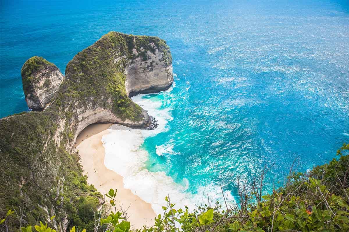 Kelingking Beach, Nusa Penida, Bali, the most Instagrammed beach in the world