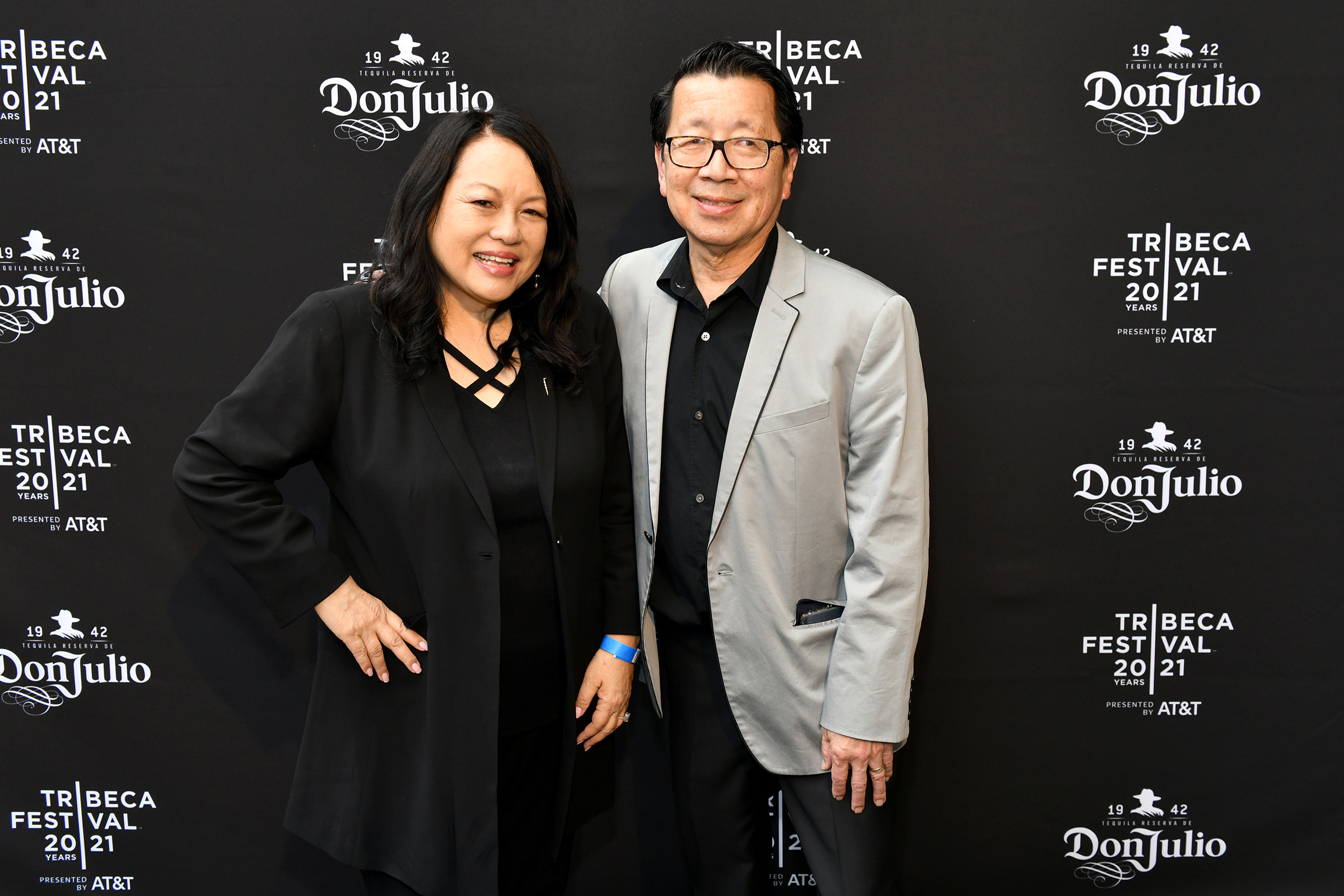 Suzanne Kai and Ben Fong-Torres at the Tribeca Film Festival