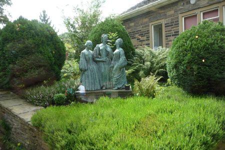 Statue of the Brontë sisters
