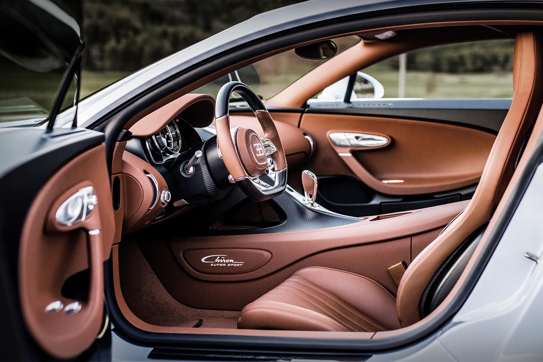 The interior of the Bugatti Chiron Super Sport