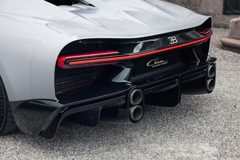 The back end of the Bugatti Chiron Super Sport