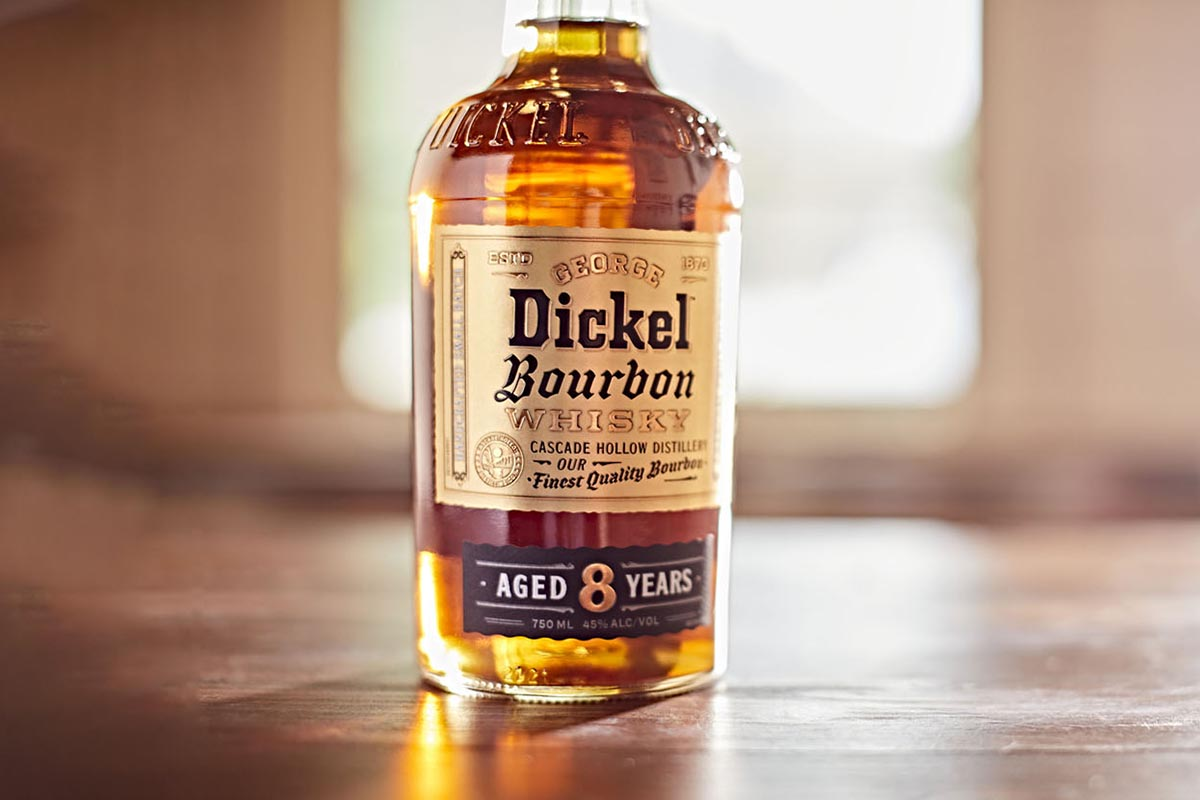 A bottle of Dickel bourbon, just launched