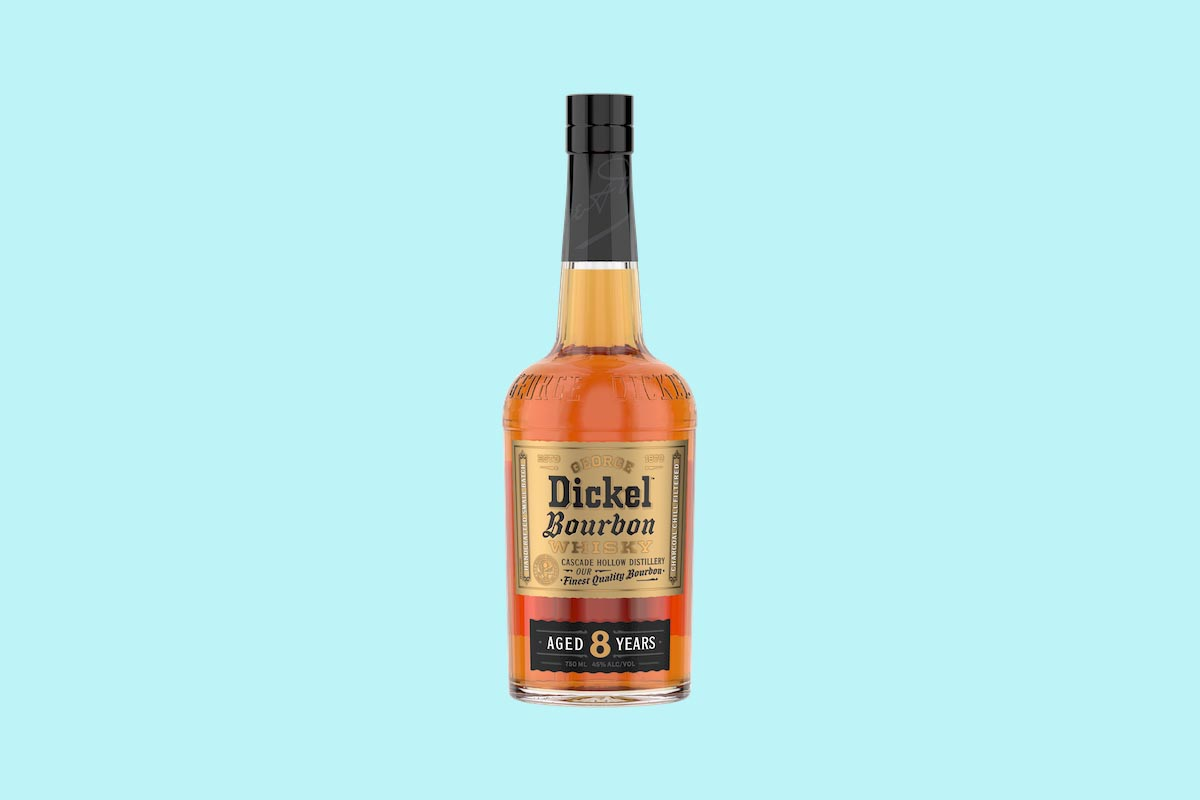 A bottle of Dickel bourbon, a new release from George Dickel, better known for its Tennessee Whiskey