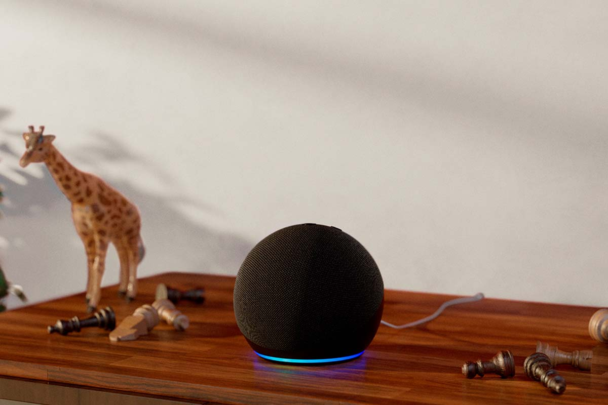 The fourth-gen (202) Amazon Echo Dot speaker, now 50% off at Amazon