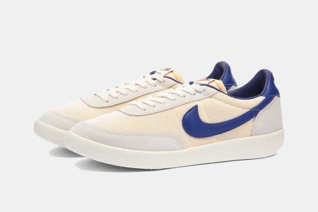 Nike Killshot OG sneakers with a royal blue swoosh