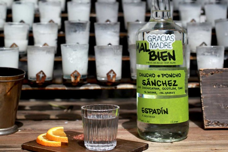 Mal Bien, an uncertified mezcal available at Gracias Madre in West Hollywood