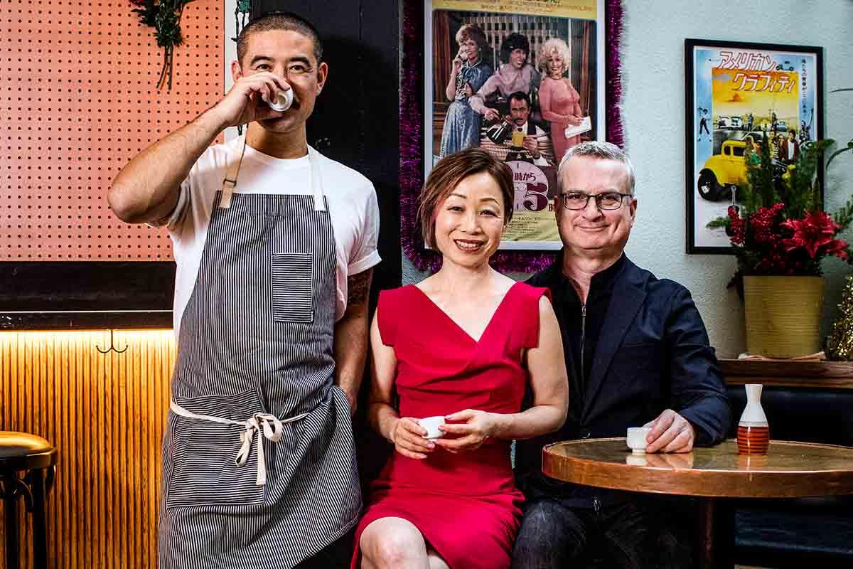 Katana Kitten's Masahiro Urushido, publicist Hanna Lee and co-author Michael Astendig