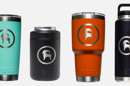 Backcountry branded tumblers and colsters from Yeti