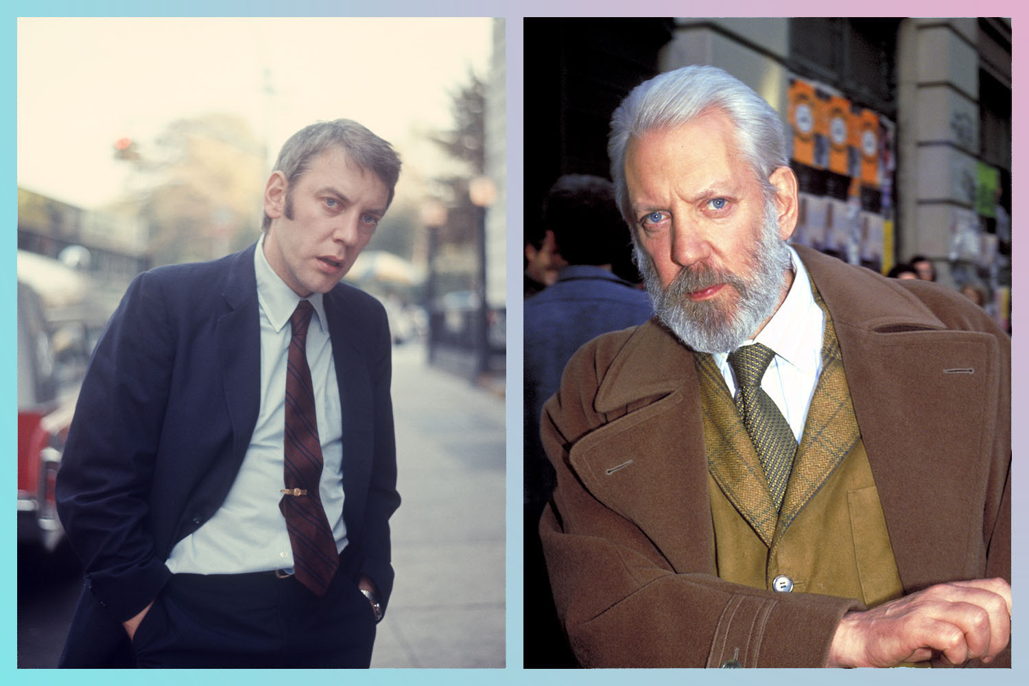 Donald Sutherland has been one of the best dressed men in Hollywood for more than 50 years