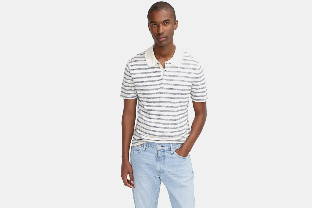 This linen-cotton sweater polo could be yours for just $35.