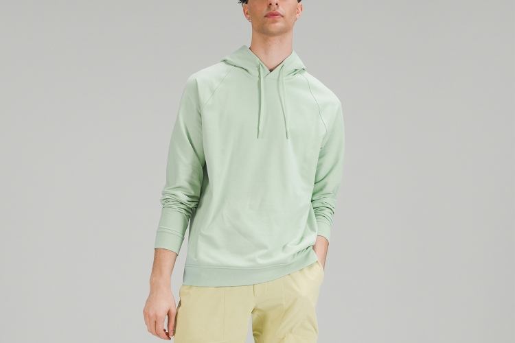 A man wearing the super soft City Sweat Pullover from Lululemon